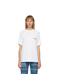 Vetements White Logo Front Back T Shirt