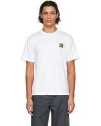 Stone Island White Logo Patch T Shirt