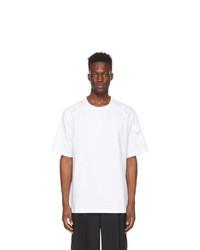 Juun.J White Logo Sleeve Pocket T Shirt