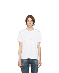 Saint Laurent White Logo T Shirt