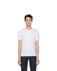 Tom Ford White Lyocell Jersey T Shirt