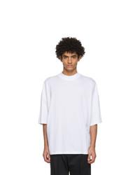 Jil Sander White Mock Neck T Shirt