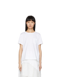 Sacai White Open Back T Shirt