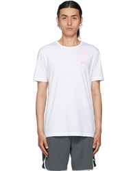 BOSS White Orange Curved T Shirt