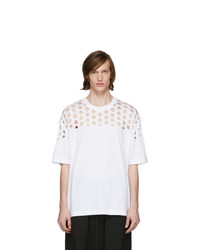 Maison Margiela White Oversized Cut Out T Shirt