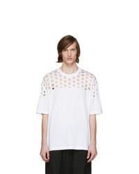 Maison Margiela White Oversized Cut Out T Shirt