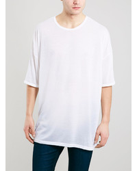Topman White Oversized Fit Sheer T Shirt