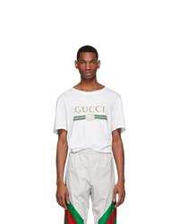 Gucci White Oversized Logo T Shirt