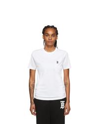 Burberry White Parker T Shirt