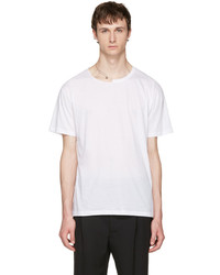 Valentino White Pin Necklace Punk T Shirt
