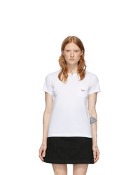 MAISON KITSUNE White Pocket T Shirt