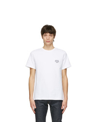 A.P.C. White Raymond T Shirt