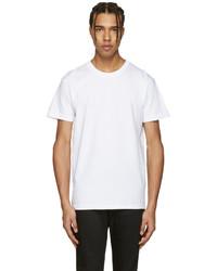 Naked & Famous Denim White Ring Spun T Shirt