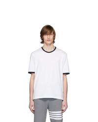 Thom Browne White Ringer T Shirt