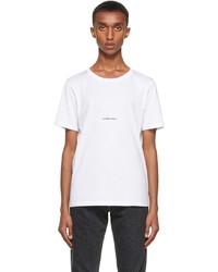 Saint Laurent White Rive Gauche Logo T Shirt