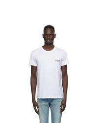 Balmain White Round Neck T Shirt