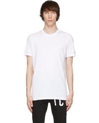 DSQUARED2 White Round Neck T Shirt