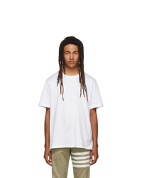 Thom Browne White Side Slit Relaxed Fit T Shirt