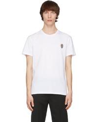 Alexander McQueen White Skull Badge T Shirt