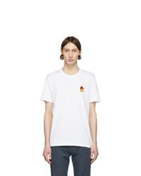 AMI Alexandre Mattiussi White Smiley T Shirt