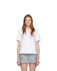3.1 Phillip Lim White Snap Cuff T Shirt