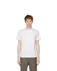 Loro Piana White Soft Silk Cotton T Shirt