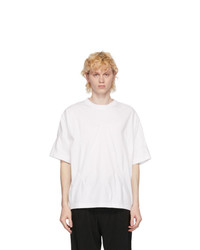 N. Hoolywood White Staple Front T Shirt