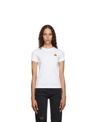 Kenzo White Tiger Crest T Shirt
