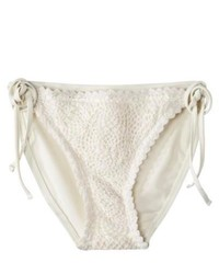 A.H. Schreiber Co., Inc. Xhilaration Juniors Crochet Side Tie Swim Bottom White S