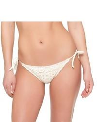 Xhilaration Ivory White Crochet String Bikini Bottom