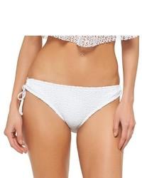 Mossimo White Crochet Keyhole Bikini Bottom
