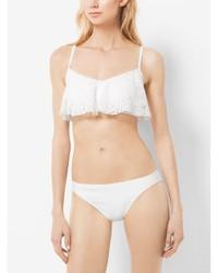 Michl kors crocheted ruffled bikini top medium 728838