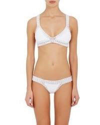 Kiini Valentine Triangle Bikini Top Silver White