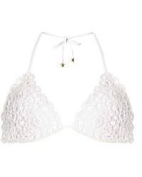 South Beach White Crochet Bikini Top