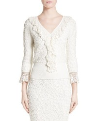 Michael Kors Michl Kors Crochet Trim Soutache Top