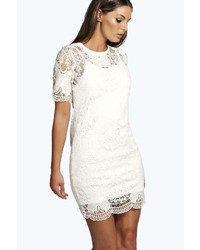 Boohoo boutique loren lace bodycon dress medium 422730