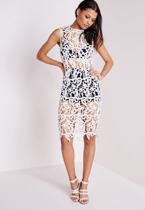 Missguided Crochet Lace Bra Insert Bodycon Dress White | Where to ...