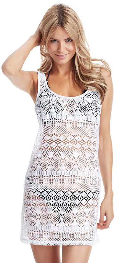 Ralph Lauren Blue Label Crochet Cover Up Swim Dress 87 Lord