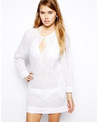 Echo Crochet Beach Tunic White