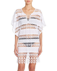 Amita Naithani Crocheted Poncho Swim Cover Up