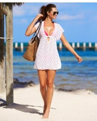 Becca Crochet Tunic Cover Up Swimsuit