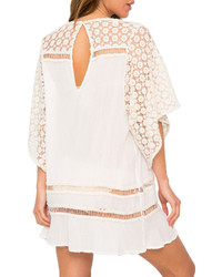 Eberjey Bonfire Beauty Lace Inset Coverup