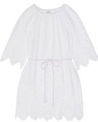 Miguelina Bridgette Crochet Paneled Cotton Lace Kaftan