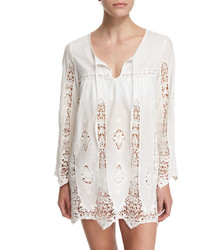 Nanette Lepore Carnaby Crocheted Tunic Coverup