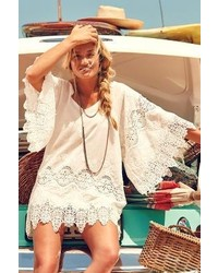 Eberjey Castaway Cover Up White Ml P Swimwear