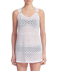 J Valdi Chevron Crochet Swim Cover Up