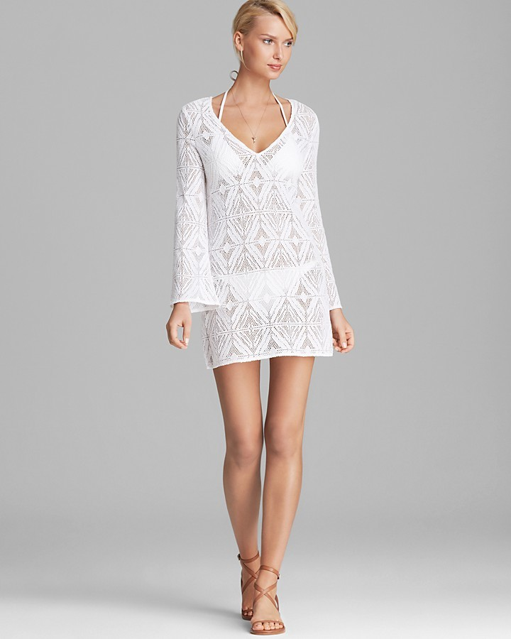 1dbf03fa39fec Milly Crochet Lace Mykonos Cover Up Tunic, $270 | Bloomingdale's ...