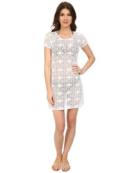 Tommy Bahama Crochet Lace Short T Shirt Dress Cover Up