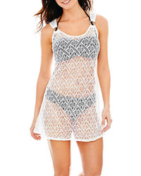 Porto Cruz Crochet Ring Tank Dress Cover Up
