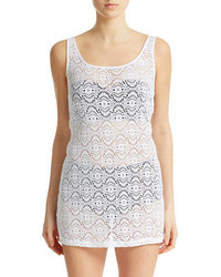 Laundry by Shelli Segal Crochet Tank Dress Coverup